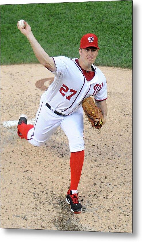 Baseball Pitcher Metal Print featuring the photograph Jordan Zimmermann by Mitchell Layton