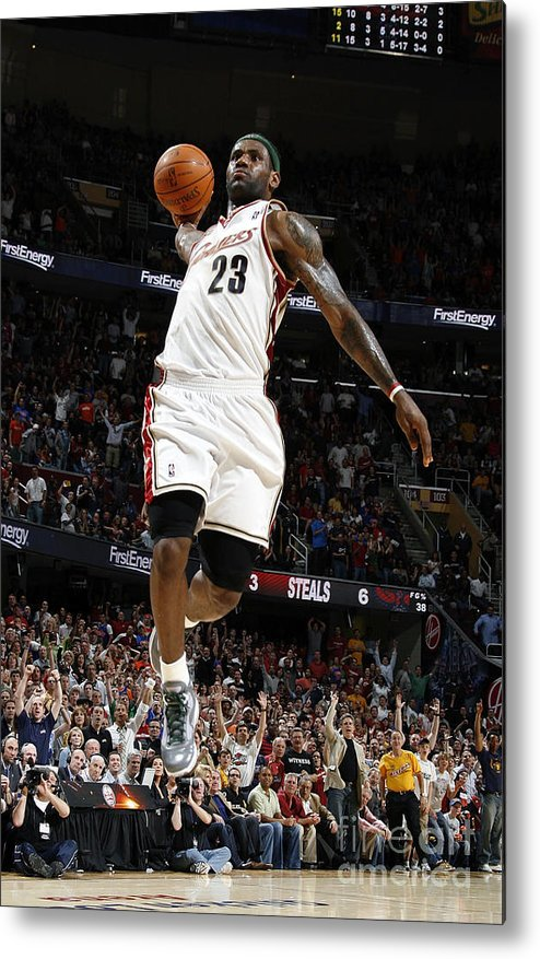 Nba Pro Basketball Metal Print featuring the photograph Lebron James by Gregory Shamus