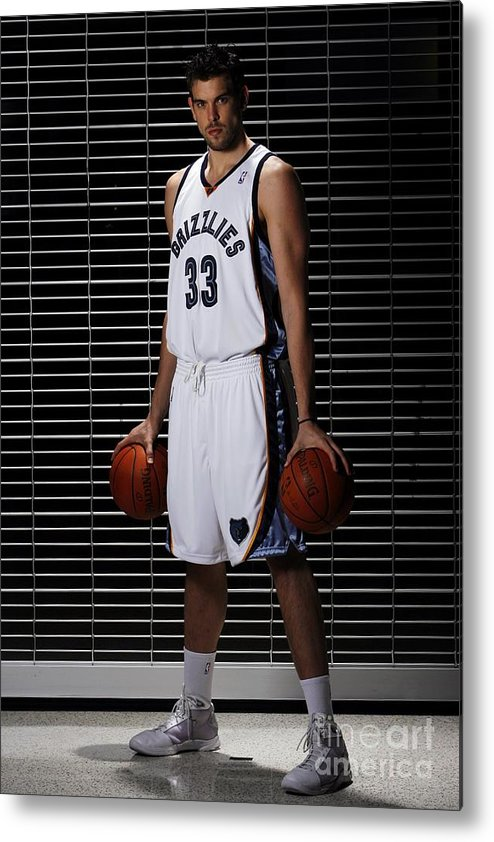 Media Day Metal Print featuring the photograph Marc Gasol by Joe Murphy