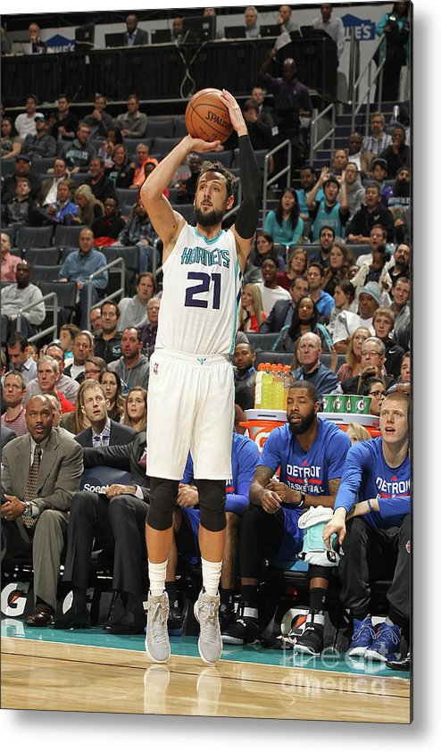 Nba Pro Basketball Metal Print featuring the photograph Marco Belinelli by Brock Williams-smith