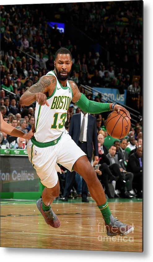 Nba Pro Basketball Metal Print featuring the photograph Marcus Morris by Brian Babineau