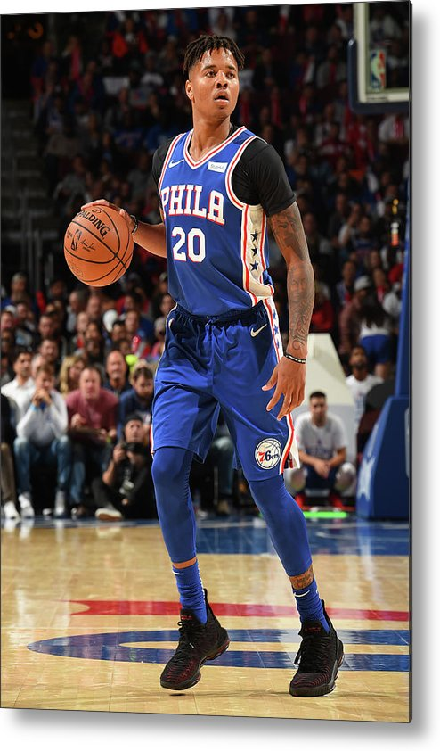 Nba Pro Basketball Metal Print featuring the photograph Markelle Fultz by David Dow