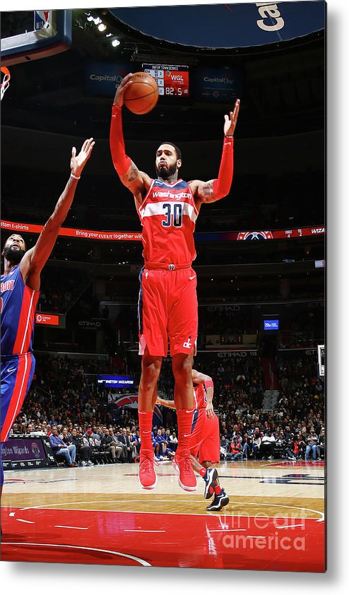 Nba Pro Basketball Metal Print featuring the photograph Mike Scott by Ned Dishman