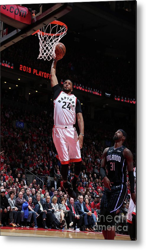 Playoffs Metal Print featuring the photograph Norman Powell by Nathaniel S. Butler