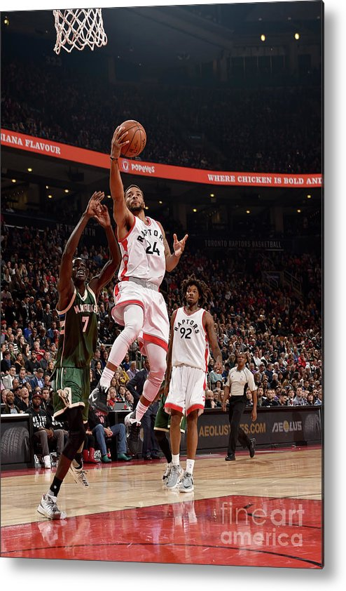 Nba Pro Basketball Metal Print featuring the photograph Norman Powell by Ron Turenne