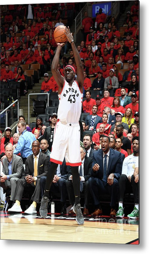 Playoffs Metal Print featuring the photograph Pascal Siakam by Andrew D. Bernstein