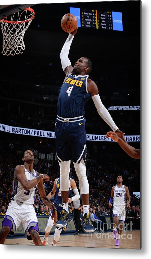 Nba Pro Basketball Metal Print featuring the photograph Paul Millsap by Bart Young