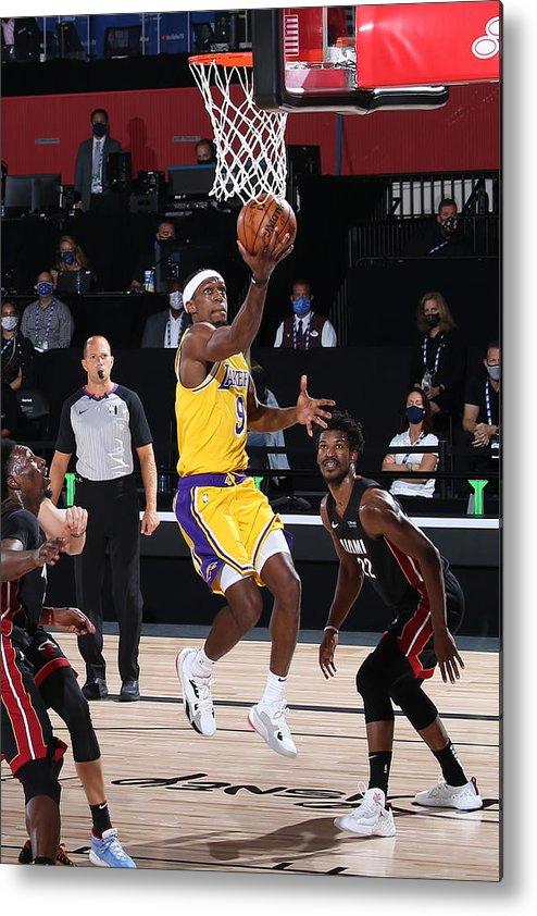 Playoffs Metal Print featuring the photograph Rajon Rondo by Nathaniel S. Butler