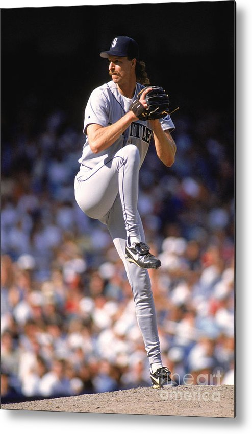 American League Baseball Metal Print featuring the photograph Randy Johnson by Rich Pilling