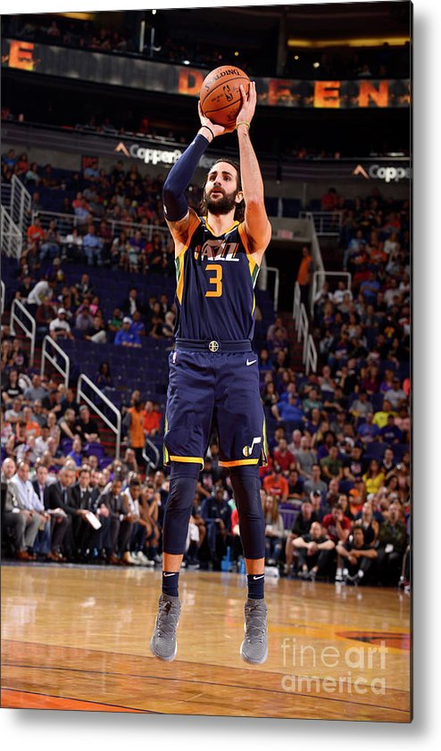 Nba Pro Basketball Metal Print featuring the photograph Ricky Rubio by Barry Gossage