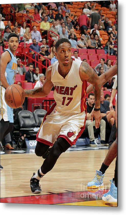 Nba Pro Basketball Metal Print featuring the photograph Rodney Mcgruder by Oscar Baldizon