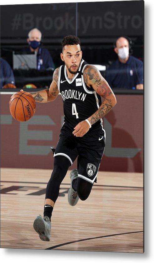 Nba Pro Basketball Metal Print featuring the photograph Sacramento Kings v Brooklyn Nets by David Sherman