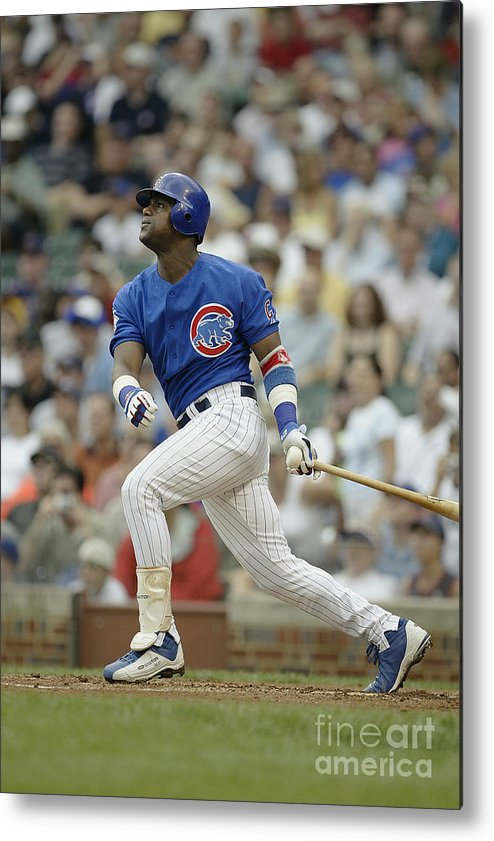 National League Baseball Metal Print featuring the photograph Sammy Sosa by Ron Vesely