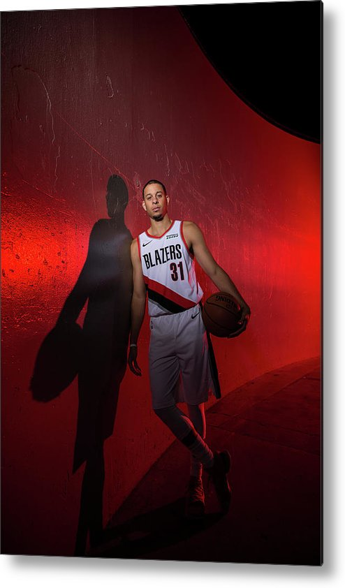 Media Day Metal Print featuring the photograph Seth Curry by Sam Forencich