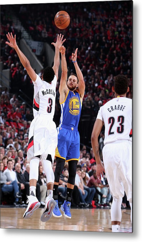 Playoffs Metal Print featuring the photograph Stephen Curry by Sam Forencich