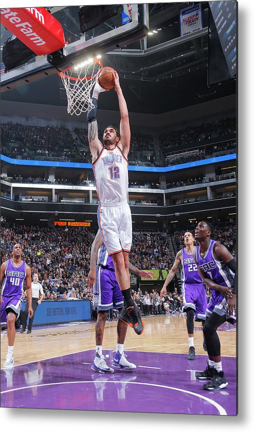 Nba Pro Basketball Metal Print featuring the photograph Steven Adams by Rocky Widner