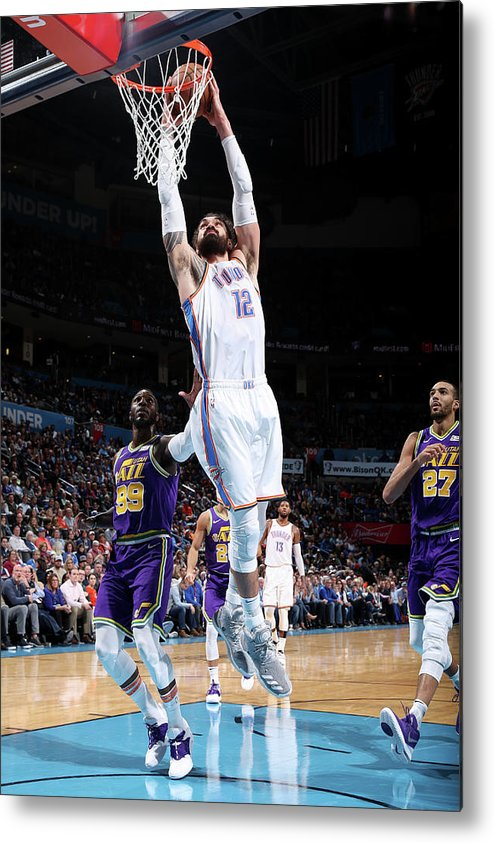 Nba Pro Basketball Metal Print featuring the photograph Steven Adams by Zach Beeker