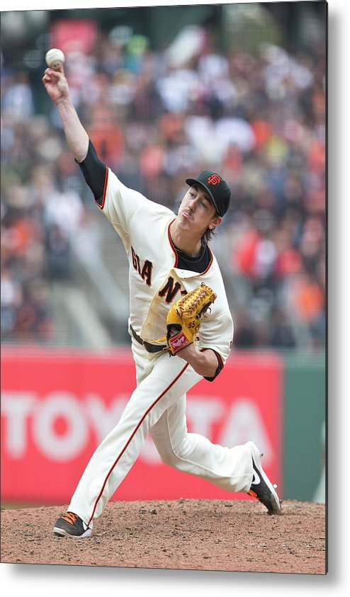 San Francisco Metal Print featuring the photograph Tim Lincecum by Jason O. Watson