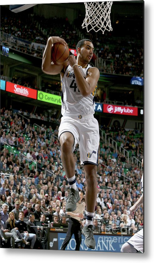 Nba Pro Basketball Metal Print featuring the photograph Trey Lyles by Melissa Majchrzak