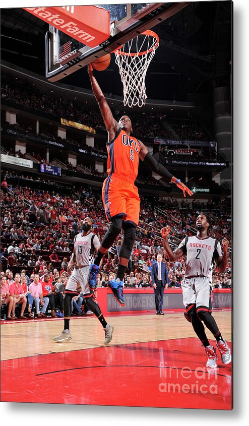 Nba Pro Basketball Metal Print featuring the photograph Victor Oladipo by Bill Baptist