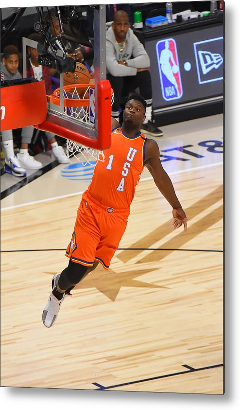 Nba Pro Basketball Metal Print featuring the photograph Zion Williamson by Bill Baptist