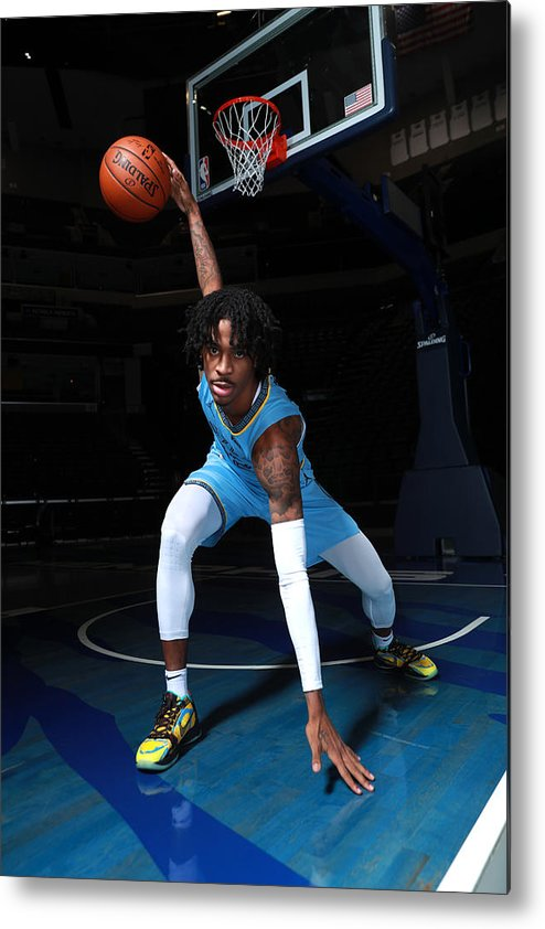 Media Day Metal Print featuring the photograph 2020-2021 Memphis Grizzlies Content Day by Joe Murphy