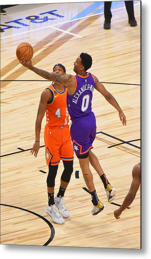 Nba Pro Basketball Metal Print featuring the photograph 2020 NBA All-Star - Rising Stars Game by Bill Baptist