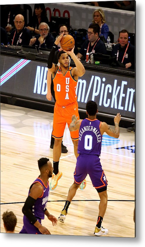 Nba Pro Basketball Metal Print featuring the photograph 2020 NBA All-Star - Rising Stars Game by David Sherman