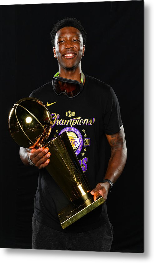 Playoffs Metal Print featuring the photograph 2020 NBA Finals - Los Angeles Lakers v Miami Heat by Jesse D. Garrabrant
