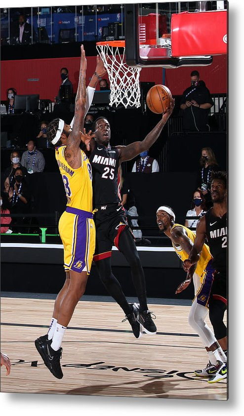 Playoffs Metal Print featuring the photograph 2020 NBA Finals - Los Angeles Lakers v Miami Heat by Nathaniel S. Butler