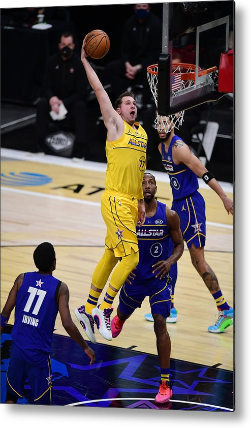 Atlanta Metal Print featuring the photograph 2021 70th NBA All-Star Game by Adam Hagy