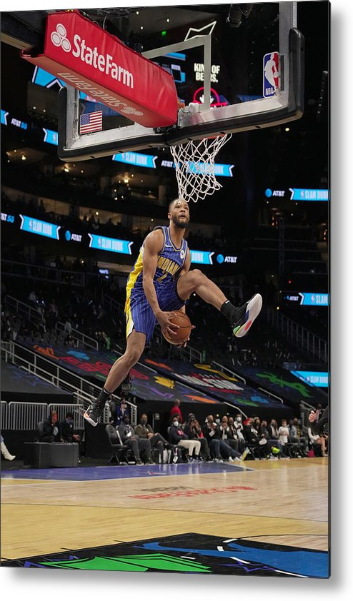 Atlanta Metal Print featuring the photograph 2021 NBA All-Star - AT&T Slam Dunk Contest by Jesse D. Garrabrant