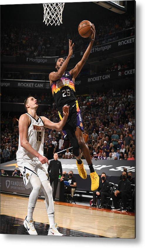 Playoffs Metal Print featuring the photograph 2021 NBA Playoffs - Denver Nuggets v Phoenix Suns by Garrett Ellwood