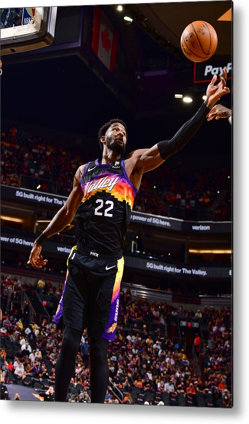 Playoffs Metal Print featuring the photograph 2021 NBA Playoffs - Los Angeles Lakers v Phoenix Suns by Barry Gossage