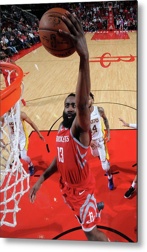 Nba Pro Basketball Metal Print featuring the photograph James Harden by Bill Baptist