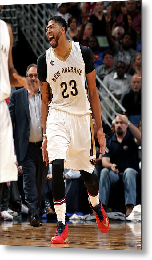 Smoothie King Center Metal Print featuring the photograph Anthony Davis by Layne Murdoch