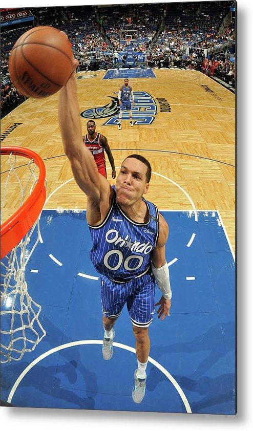 Nba Pro Basketball Metal Print featuring the photograph Aaron Gordon by Fernando Medina