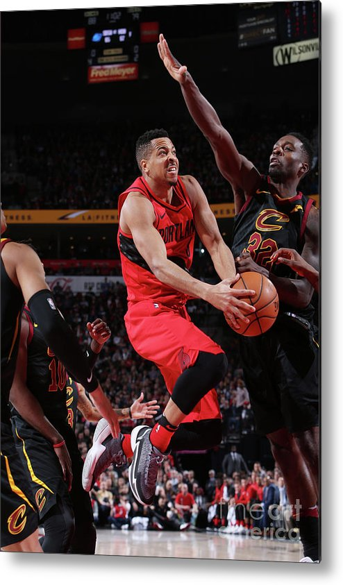 Sports Ball Metal Print featuring the photograph C.j. Mccollum by Sam Forencich