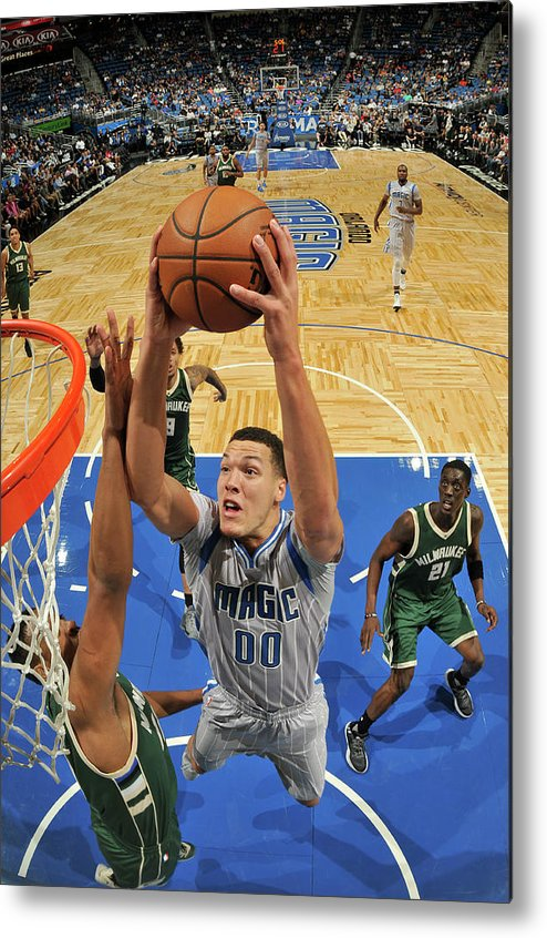 Nba Pro Basketball Metal Print featuring the photograph Aaron Gordon by Fernando Medina
