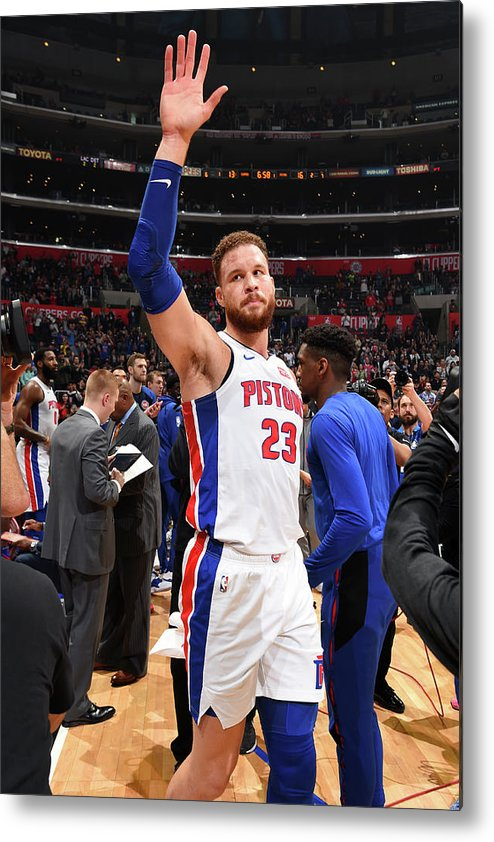 Crowd Metal Print featuring the photograph Blake Griffin by Andrew D. Bernstein
