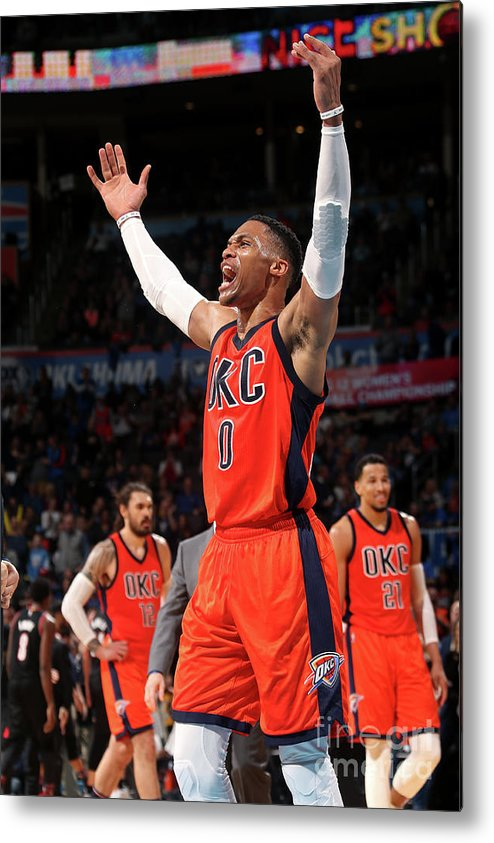 Crowd Metal Print featuring the photograph Russell Westbrook by Layne Murdoch