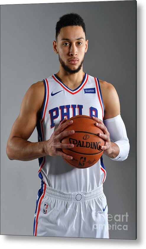 Media Day Metal Print featuring the photograph Ben Simmons by Jesse D. Garrabrant