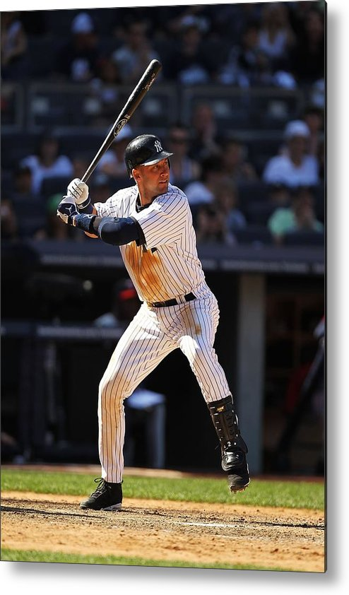 People Metal Print featuring the photograph Derek Jeter by Al Bello