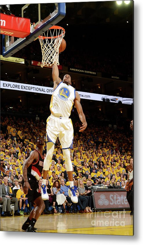 Playoffs Metal Print featuring the photograph Andre Iguodala by Noah Graham