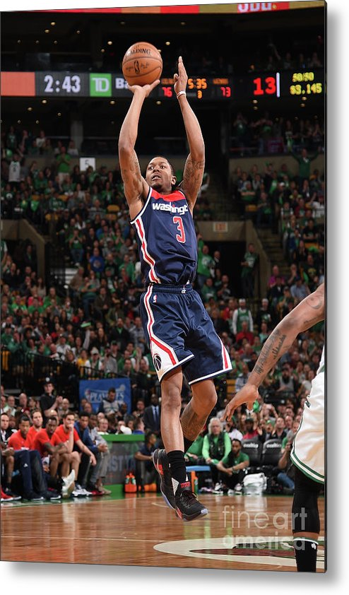 Playoffs Metal Print featuring the photograph Bradley Beal by Brian Babineau