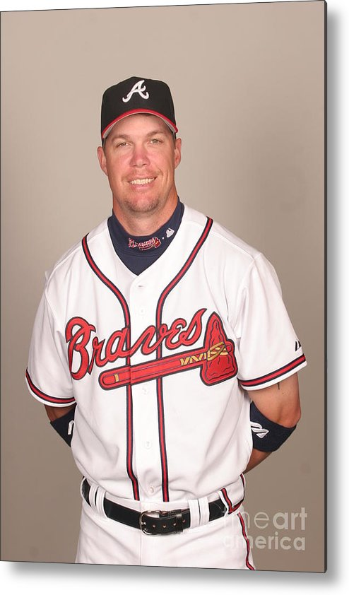 Media Day Metal Print featuring the photograph Chipper Jones by Tony Firriolo