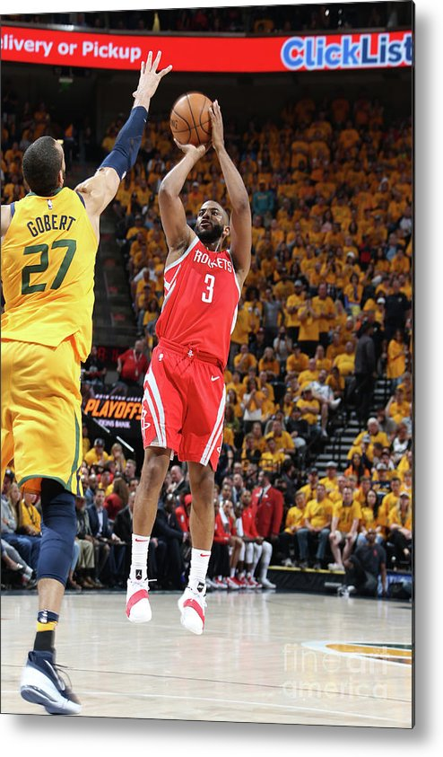 Playoffs Metal Print featuring the photograph Chris Paul by Melissa Majchrzak