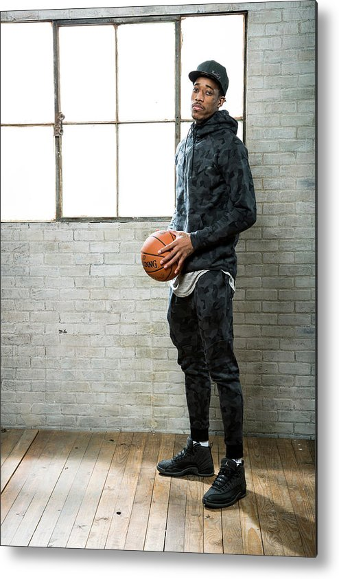 Nba Pro Basketball Metal Print featuring the photograph Demar Derozan by Nathaniel S. Butler