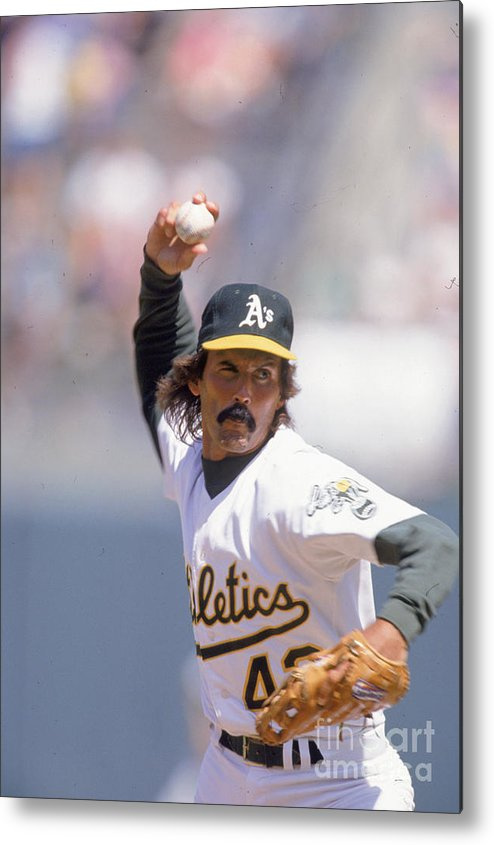 1980-1989 Metal Print featuring the photograph Dennis Eckersley by Ron Vesely