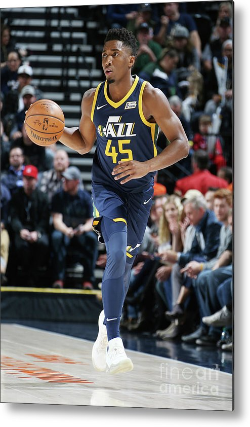 Nba Pro Basketball Metal Print featuring the photograph Donovan Mitchell by Melissa Majchrzak